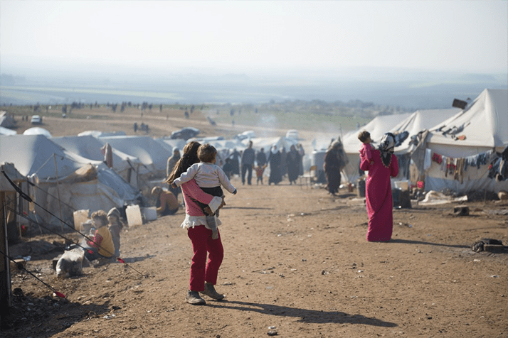 Syrian refugee's Tents