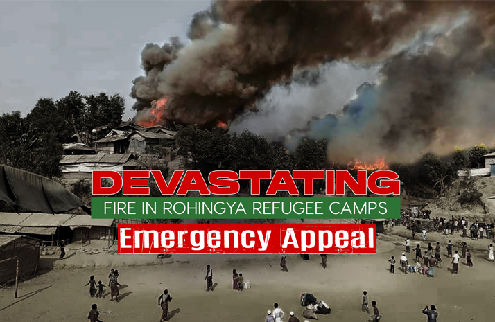 Fire in Rohingya Refugee Camps